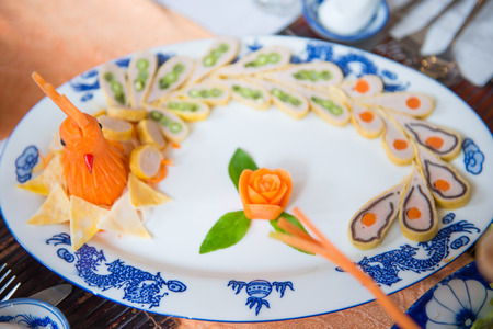 beautifully: Vietnamese cuisine is decorated beautifully, food