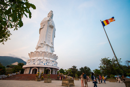 lining: Danang, Vietnam Mar 15:: statue of Guanyin highest in Vietnam at lining temple on March 15, 2015 Vietnam Editorial