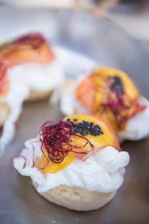 breakfast food: proach egg for breakfast, food