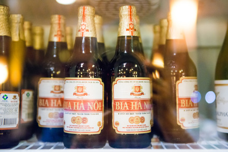 Halong CIty, Vietnam mar 12:: BIA HA NOI local beer in Hanoi on March 12, 2015 Editorial