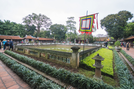 Hanoi, Vietnam Mar 12:: Van Mieu or Temple of Literature is College of the first in Hanoi on March 12, 2015 Vietnam