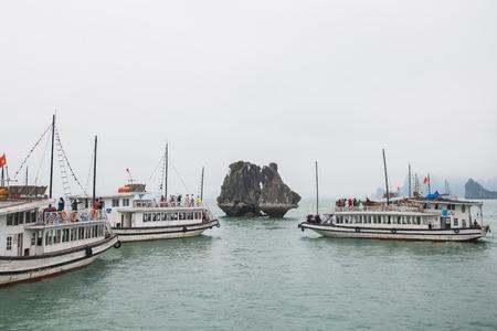 halong: Halong bay, Vietnam mar 13:: Gamecocks Island at Halong Bay on March 13, 2015