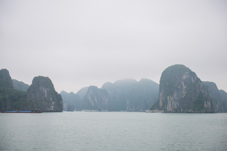 numerous: Halong bay, Vietnam mar 13:: Numerous islands at Halong Bay on March 13, 2015 Editorial