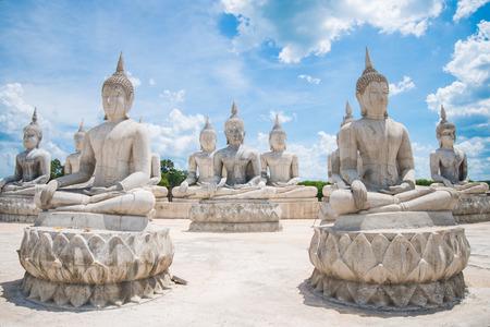 chant: Big beautiful buddha statue in Nakon Sri Tammarat province, Thailand Stock Photo
