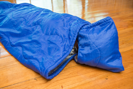 sleeping bag: girl in sleeping bag for camping, Camping Equipment
