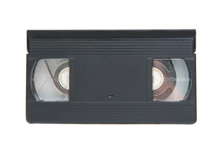 videotape: old classic videotape on white background, retro