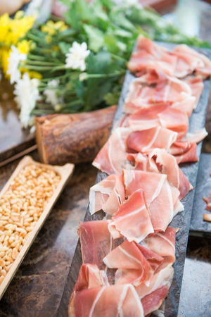 delicious parma ham for dining, food Stock Photo