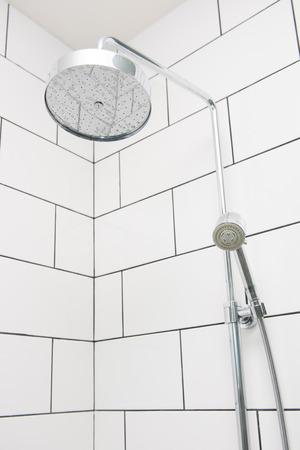 rain shower: rain shower in modern bathroom, interiors