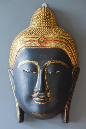 cabeza de buda: Buda simulacro cabeza para el hogar decoración, decoración del hogar Foto de archivo