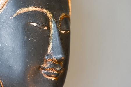 cabeza de buda: Buda simulacro cabeza para el hogar decoraci�n, decoraci�n del hogar Foto de archivo