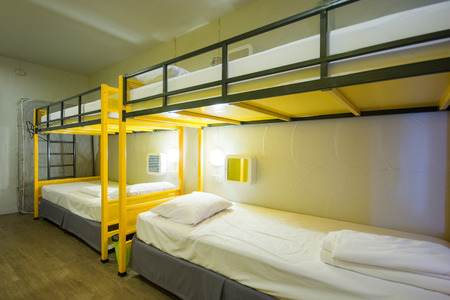 Bunk Beds in sleeping room, hostel