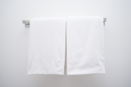 white towel in bathroom, home