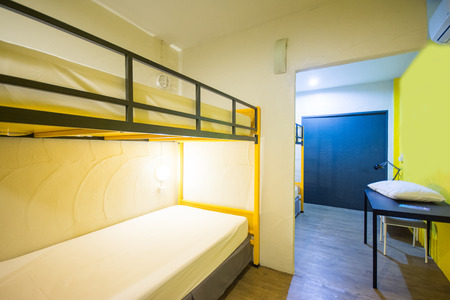 bunk: Bunk Beds in sleeping room, hostel