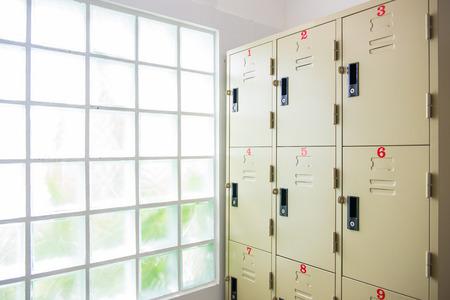 steel locker in shower room, Storage
