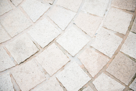 White Brick Floor In Garden Stone Stock Photo Picture And Royalty