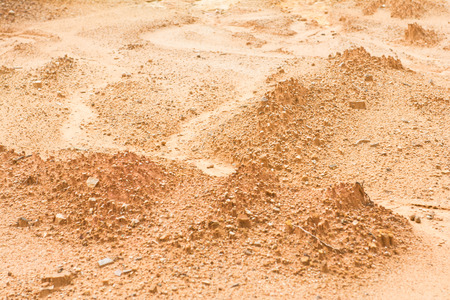 trading floor: laterite soil excavation site for sale, construction Stock Photo