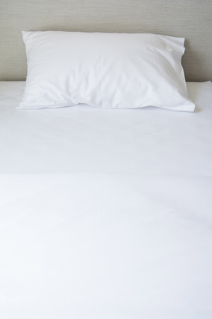 comfortable: Comfortable soft pillows on the bed, bedroom Stock Photo