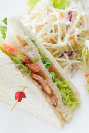 sanwich: fresh tuna sanwich with vegetable, food Stock Photo