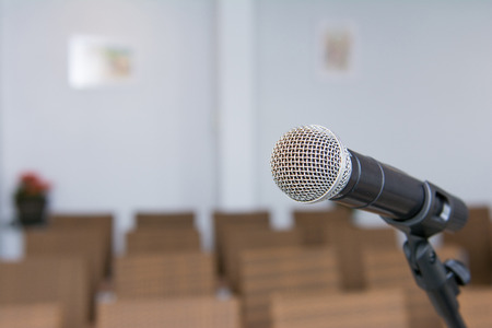 microphone in conference room, sound
