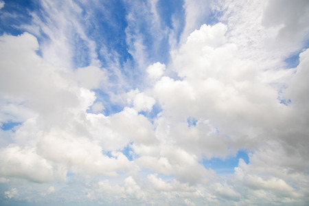 good heavens: beautiful cloud and blue sky, landscape Stock Photo