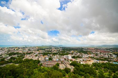 khao: Phuket Town from Khao Rang viewpoint, Thailand