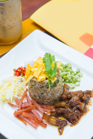 paste: Delicious fried rice with shrimp paste, food