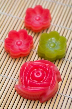 chan: Kanom Chan layer sweet cake Thai dessert, cuisine Stock Photo