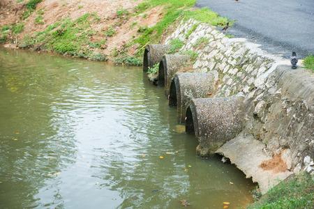 drain: Drain canal in park, water