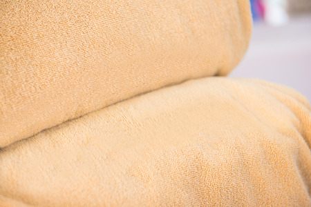 rolled: two brown rolled towel, comfortable