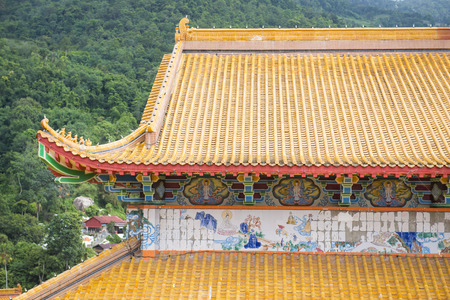 chinese temple: beautiful roof tile of chinese temple, Kek Lok Si temple Penang Malaysia