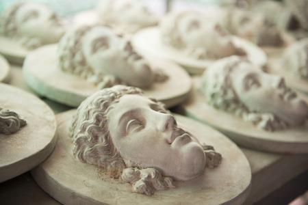 stucco: doll stucco decorations roman style, statue Stock Photo