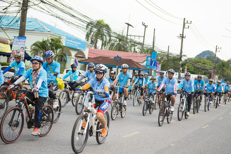 queen's birthday: PHANG-NGA, THAILAND-AUGUST 16 : Bike for mom event to celebrate the Queens birthday on August 16, 2015 in Phang-nga, Thailand, rider