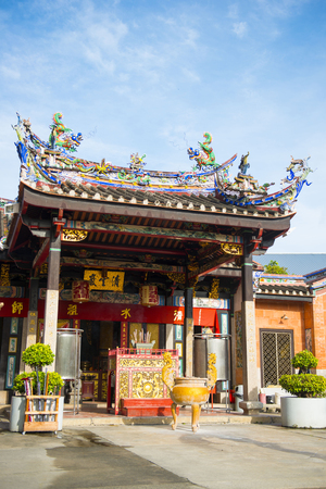 veneration: PENANG, MALAYSIA-AUGUST 10, 2015 Snake Temple in Penang, Malaysia, travel