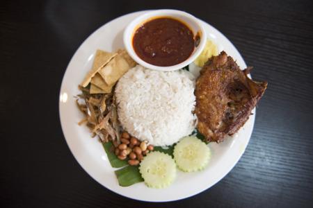 """""""椰漿飯""""馬來西亞國家食品,美食 版權商用圖片"""