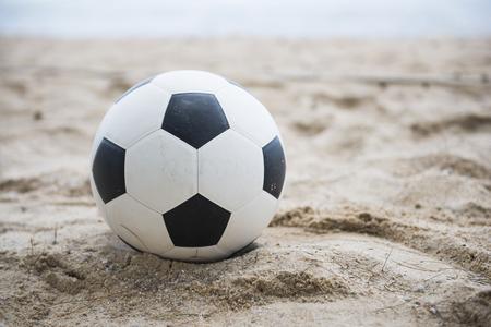 football on sand beach, soccer Фото со стока