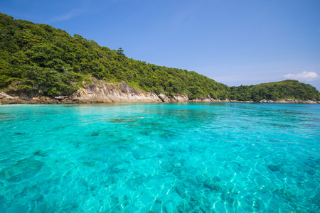 Seas calm blue sea, Racha noi island, Phuket, Thailand 版權商用圖片