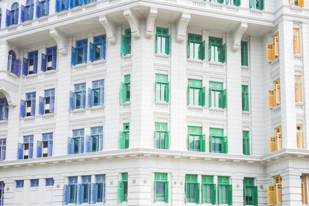 known: colorful of MICA building It was known as the Old Hill Street Police Station in Singapore, landmark Stock Photo