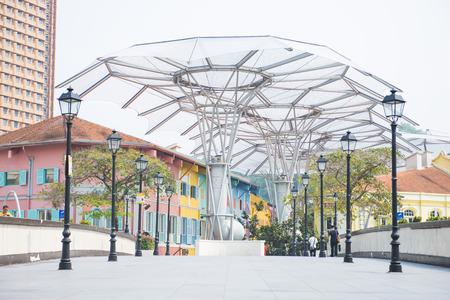 Read Bridge , bridge to Clarke Quay in Singapore, bridge