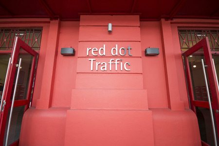 aisa: SINGAPORE, OCTOBER 13, 2015: red dot design museum is the center of creativity. The place is famous as one of Singapore on October 13, 2015, landmark