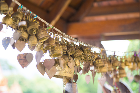 chalong: bell Thai style in Chalong Temple, golden