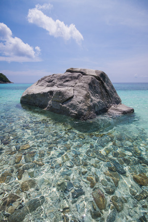 clear waters: coastal clear waters and rocky area, racha noi, Phuket, Thailand