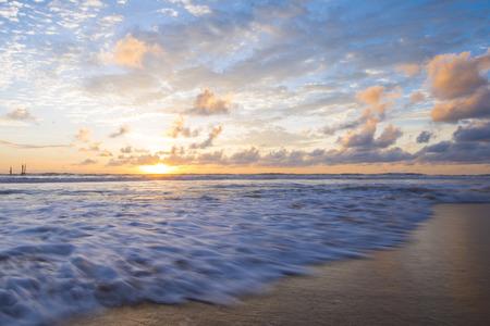 phangnga: beautiful Natai beach at sunset time, Phang-nga Stock Photo