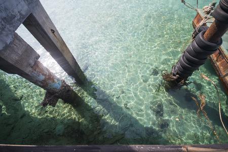 ton: clear water at the port, Mai Ton Island, Phuket, Thailand