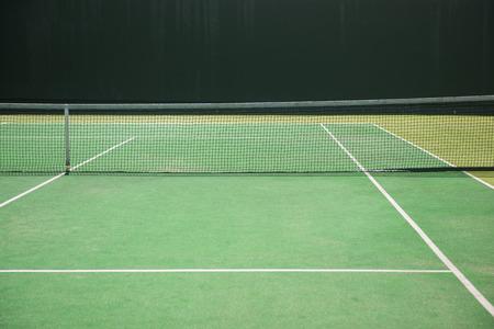 vide court de tennis vert, sport