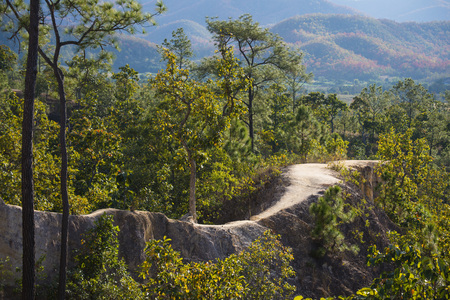 outstanding: PAI, MAE HONG SON PROVINCE, THAILAND - DECEMBER 26, 2015: The Pai Canyon (Kong Lan) is one of Pai's outstanding natural attractions and nature walks on december 26, 2015, Thailand