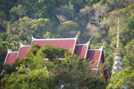 buddhist temple roof: The roof of buddhist temple, religion
