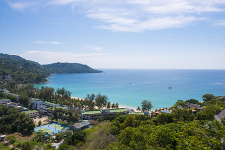 kata: beautiful top view of Kata beach in Phuket, nature