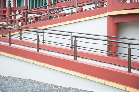 wheelchair users: Pathways for wheelchair user to building, architecture