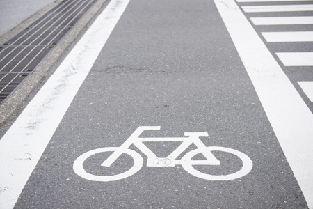 road bike: bike lane on the road, street