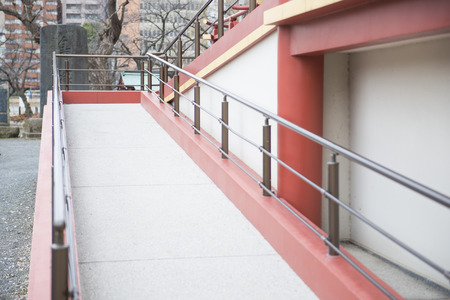 pathways: Pathways for wheelchair user to building, architecture